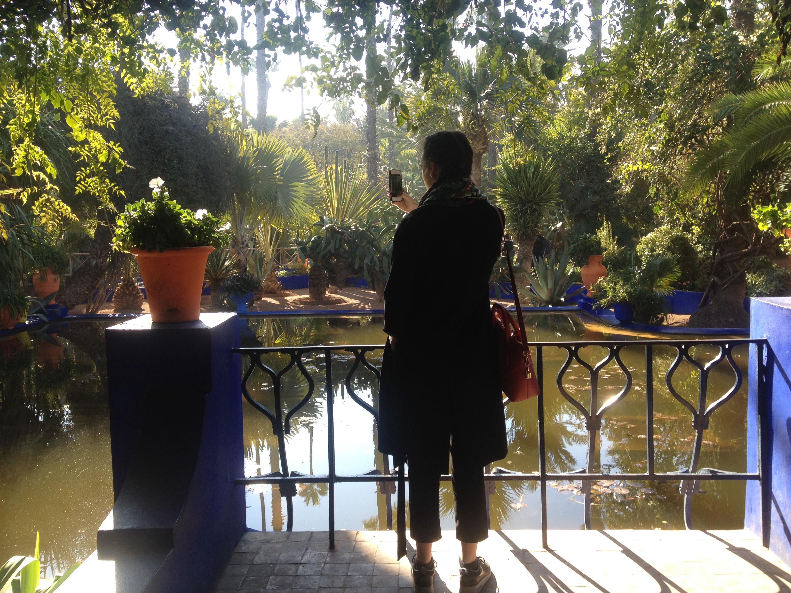 Naomitrends naomi england for Jardin majorelle 2015
